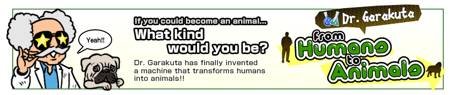 [Dr.Garakuta] from Humans to Animals